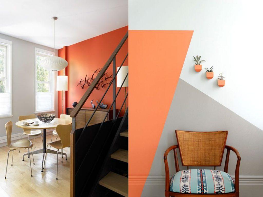 decoración naranja combinación perfecta