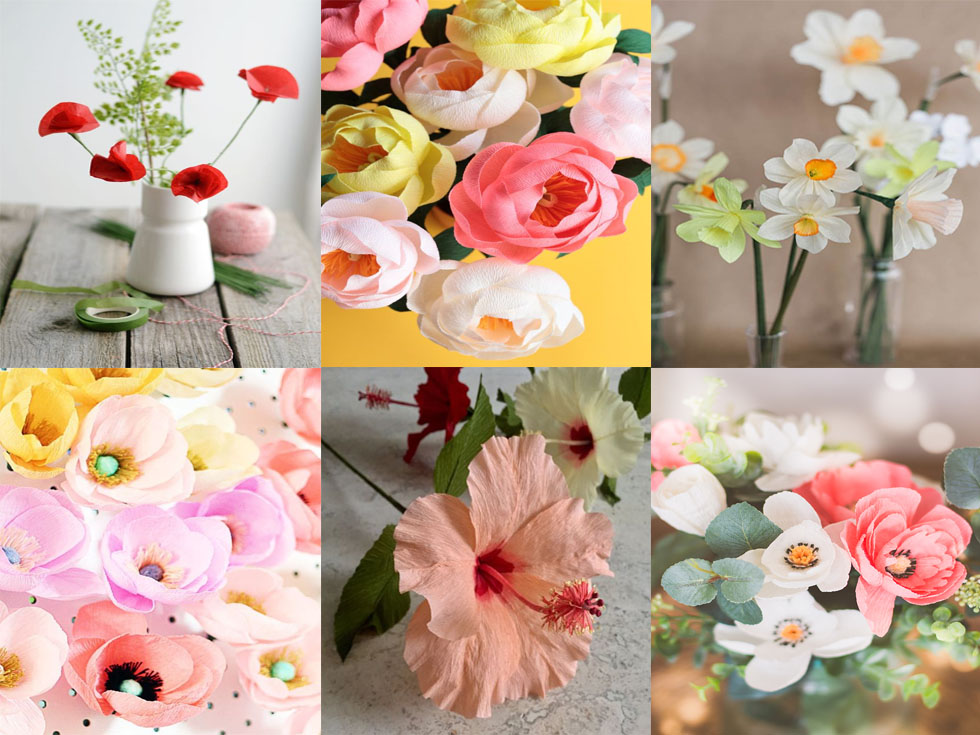 7 ideas de decoraci n con flores de papel para tu hogar for Decoracion con plantas en living