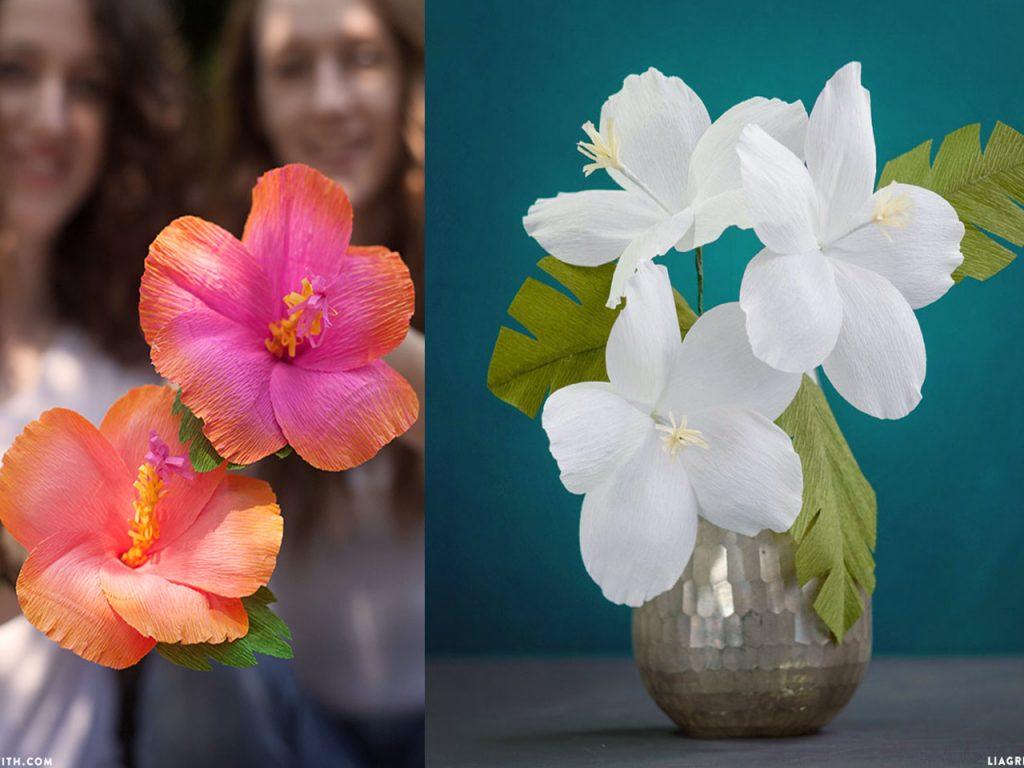 flores de papel hibiscus