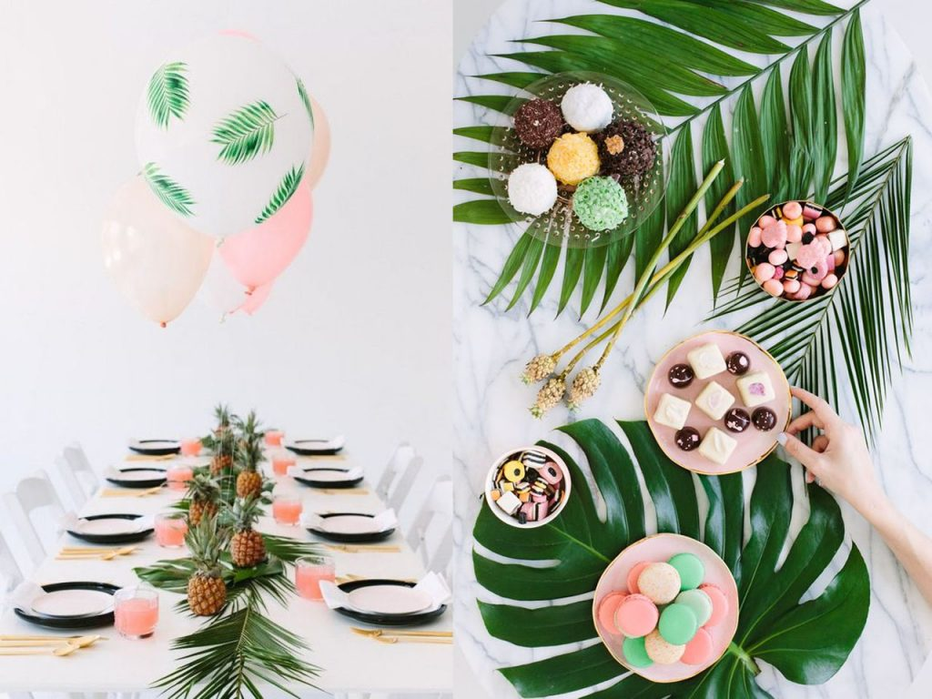 fiesta tropical hojas