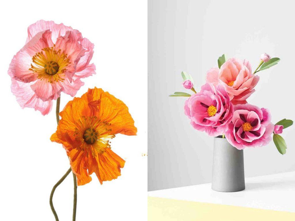 bonitas flores de papel