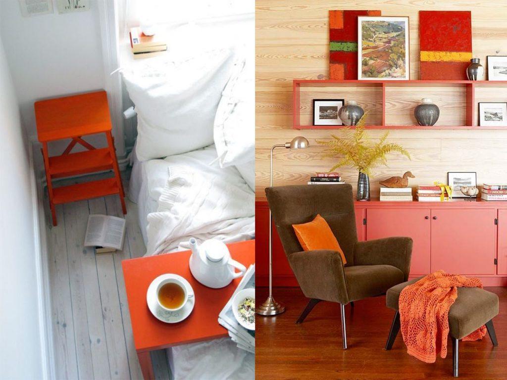 la decoración naranja aporta personalidad