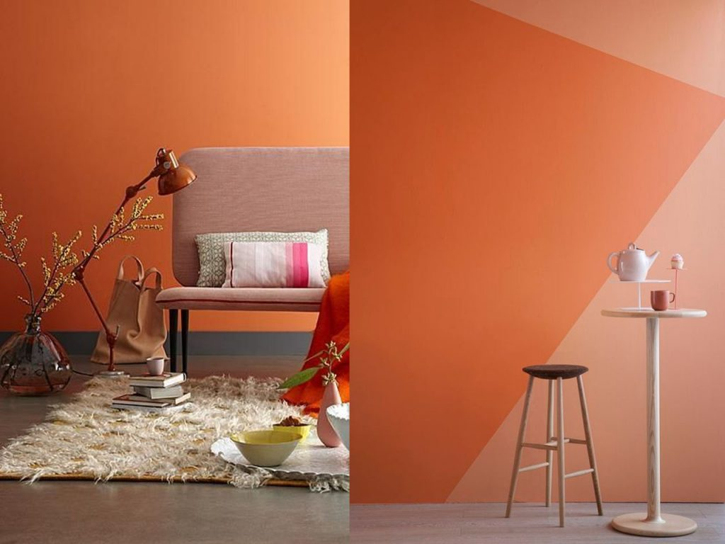 decoración naranja color atrevido