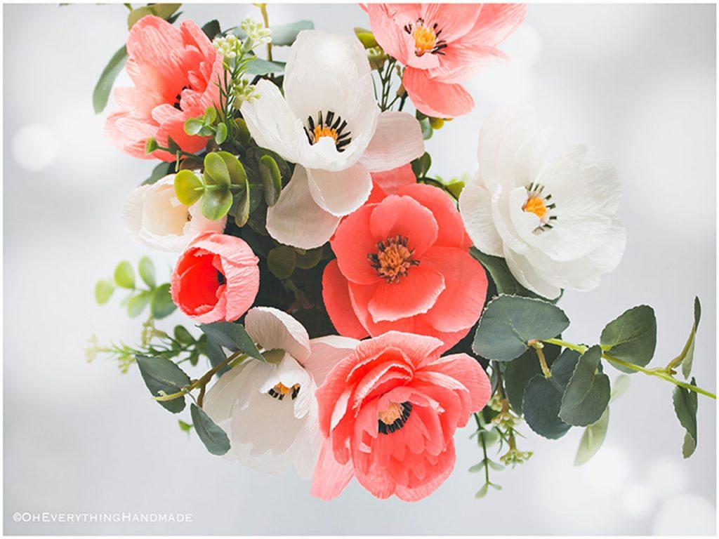 flores de papel preciosas
