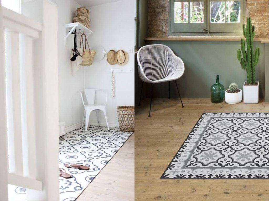 baldosas hidráulicas como alfombras