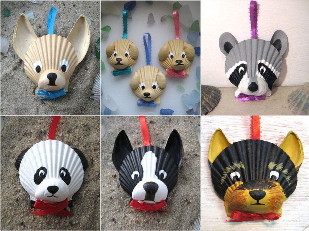 animales en conchas de mar