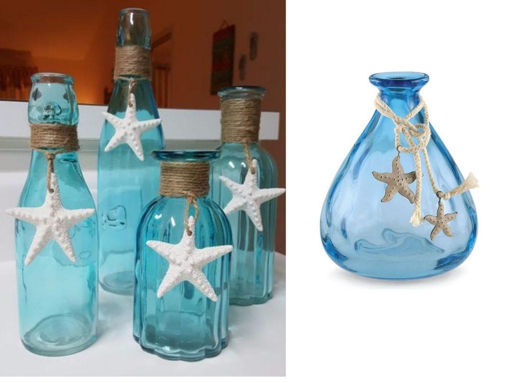 los jarrones de mar para la decoración marinera
