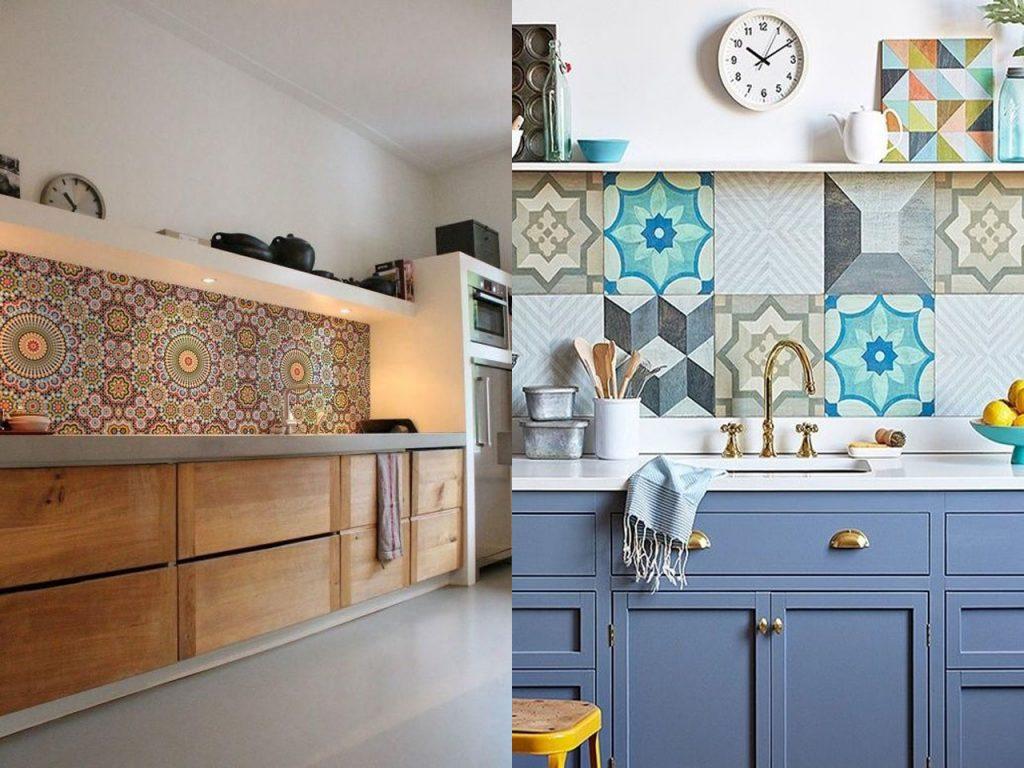 baldosas hidráulicas en cocinas