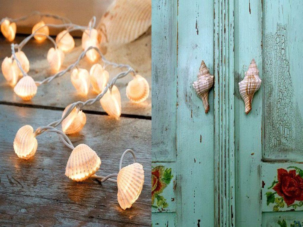 conchas para la decoración marinera