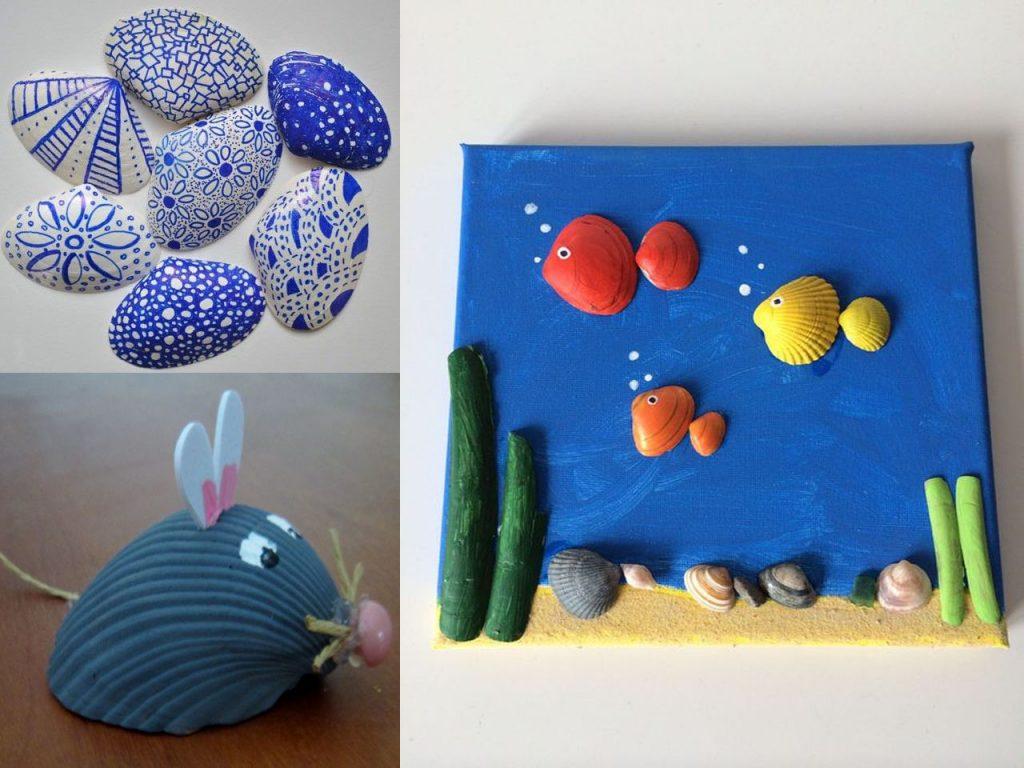 conchas de mar para niños