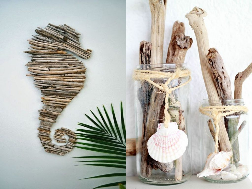 driftwood decoración marinera