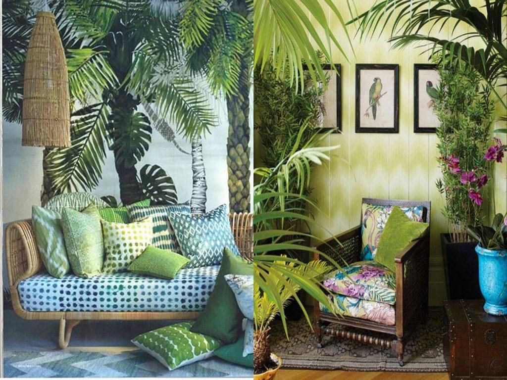 sofás para este verano estilo tropical