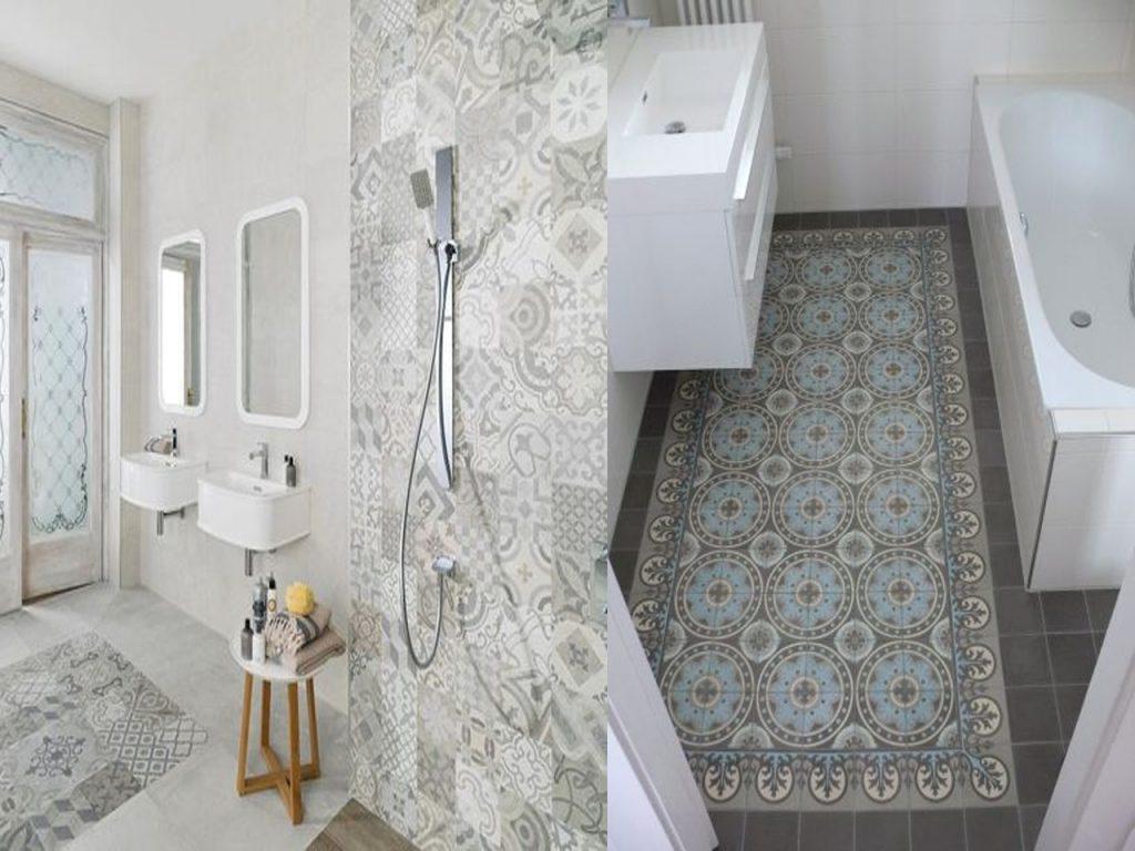 combinaciones en el baño con baldosas hidráulicas