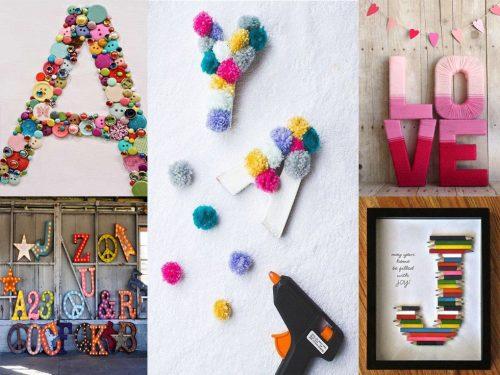 Las mejores ideas para usar letras para decorar en tu casa