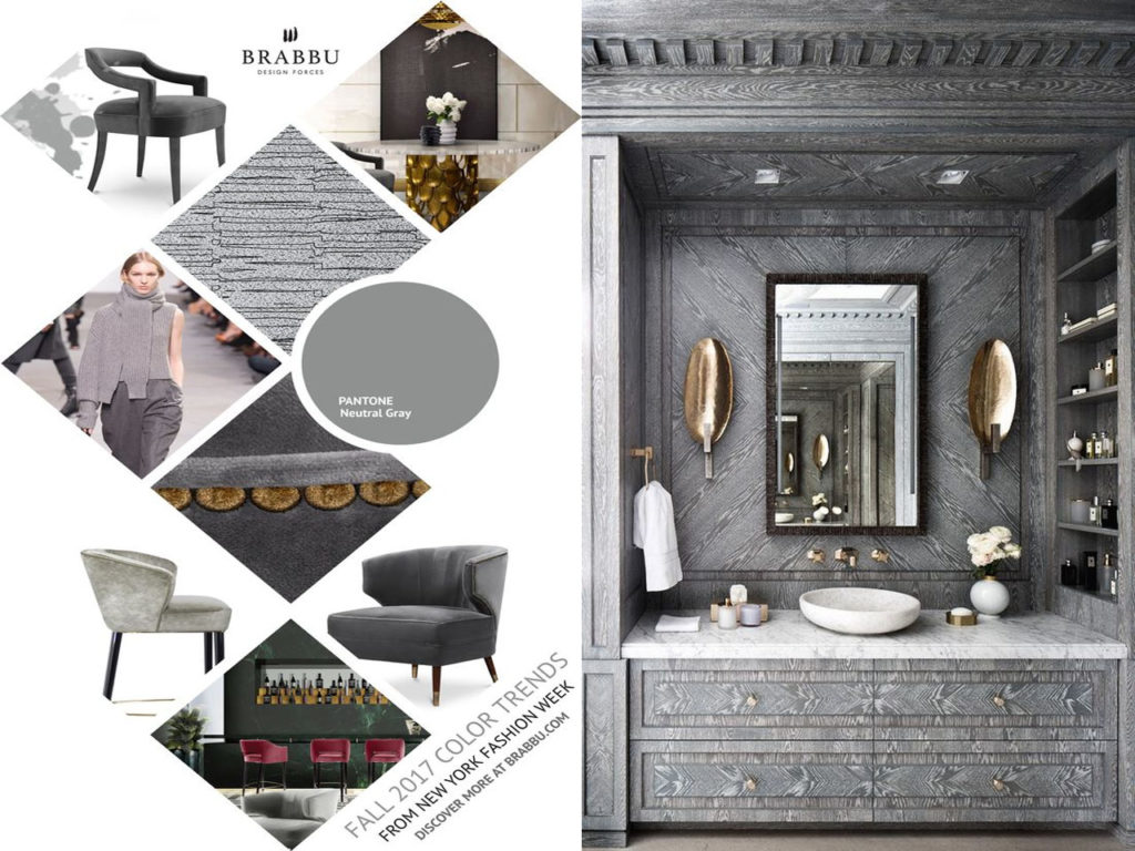 colores Pantone para Otoño 2017 neutral grey