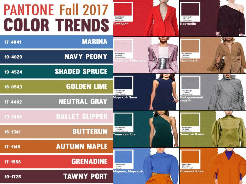 colores Pantone para Otoño 2017 colores en tendencia