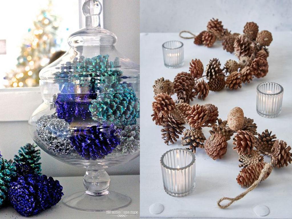 7 encantadoras ideas de decoraci n de oto o para tu hogar - Centros de mesa con pinas ...