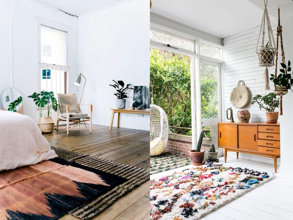 decoración con alfombras aportan calidez