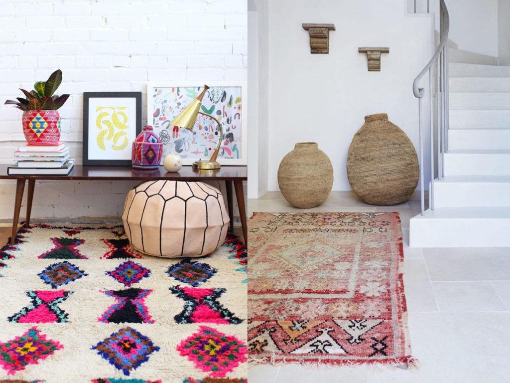 renovar el suelo con decoración con alfombras