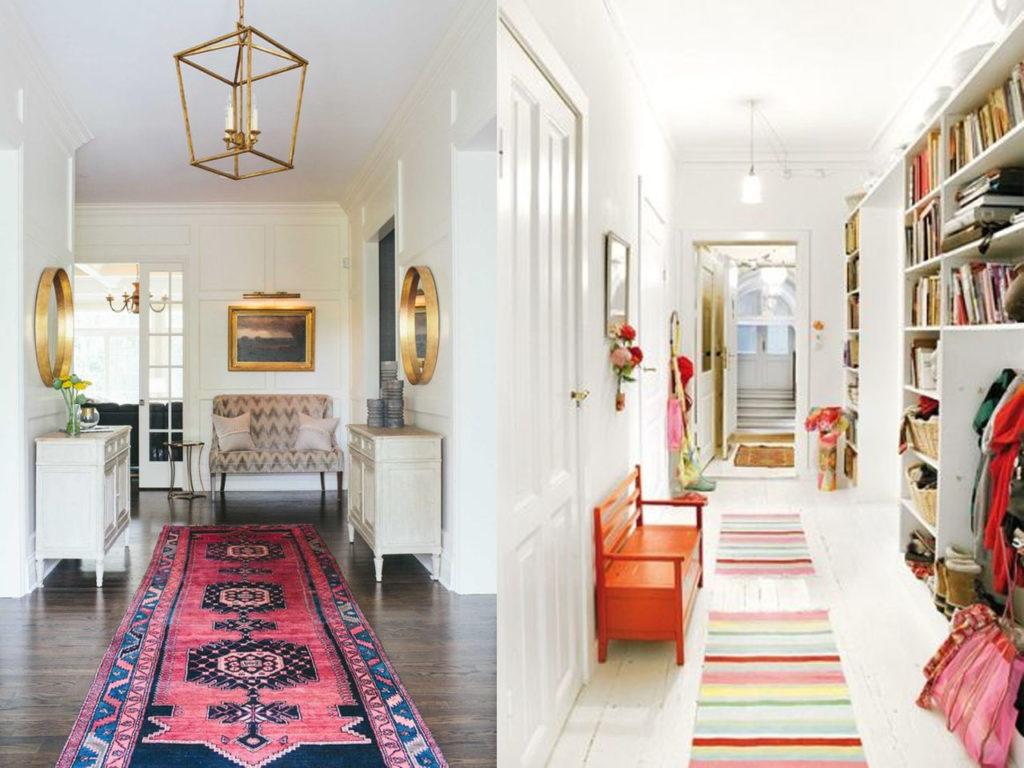 decoración con alfombras seguir el camino