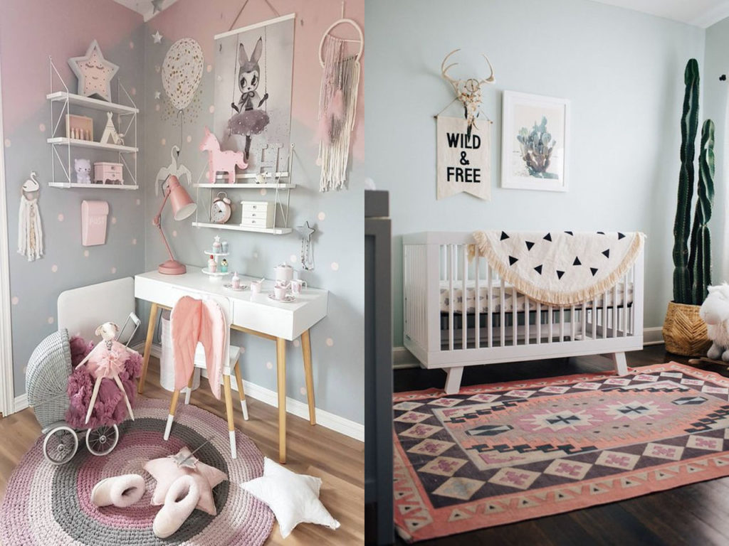 decoración con alfombras para bebés