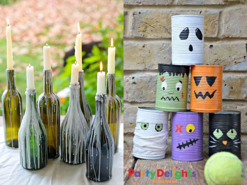Halloween 2017 reciclaje de botellas y latas