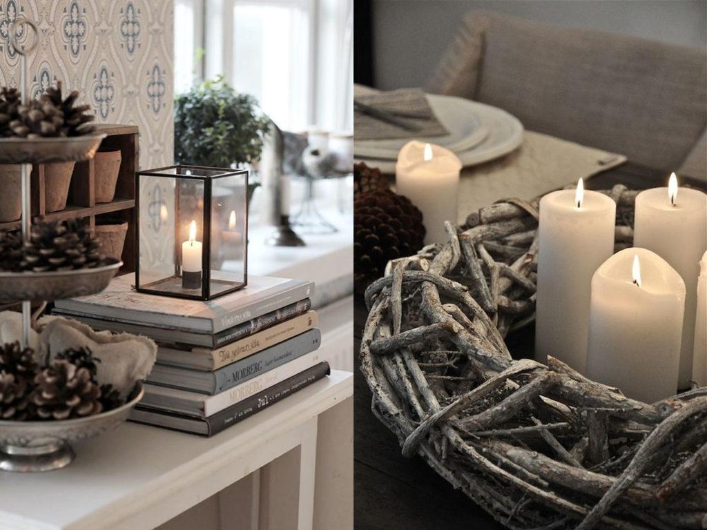 decoración relajante velas