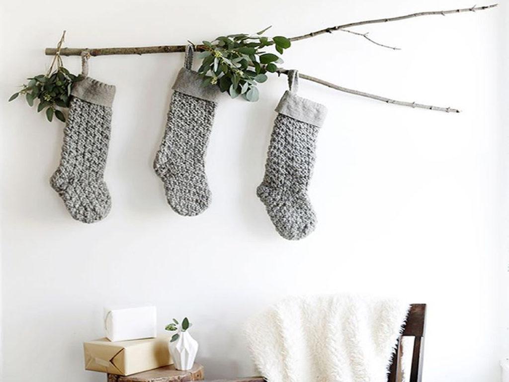 calcetines en decoración para navidad 2017-2018