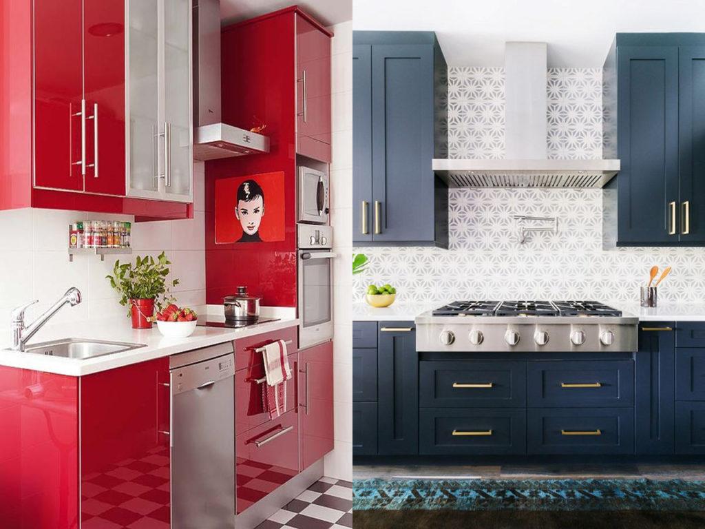 colores vivo en la cocina perfecta