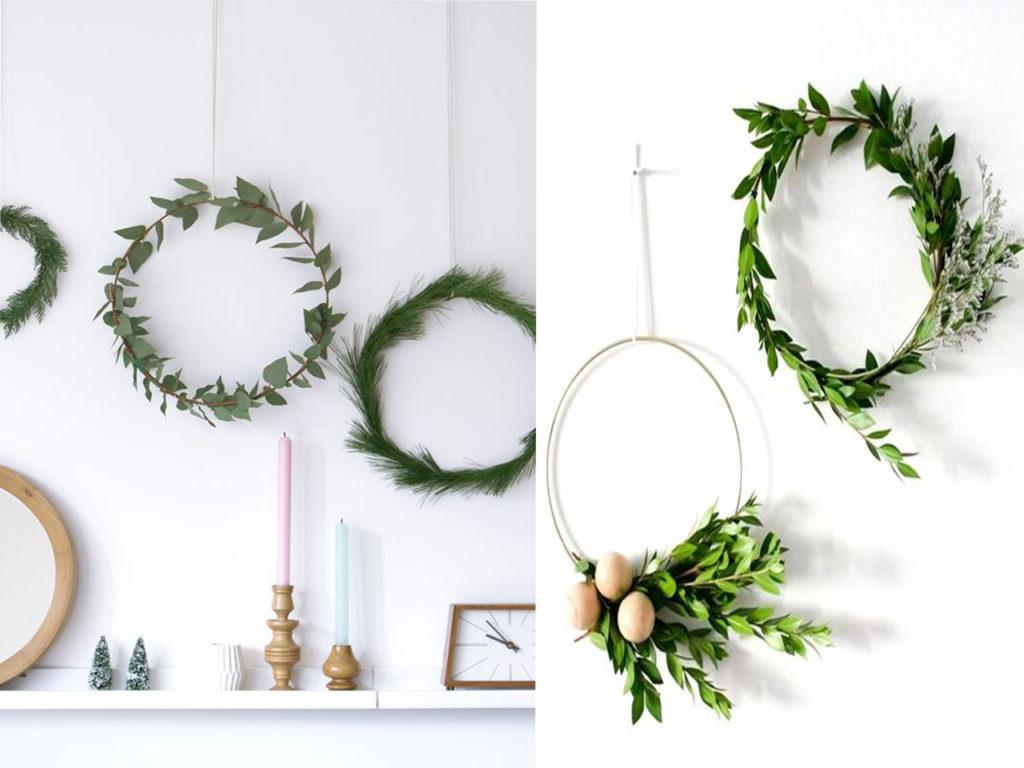 decoración para navidad 2017-2018 coronas