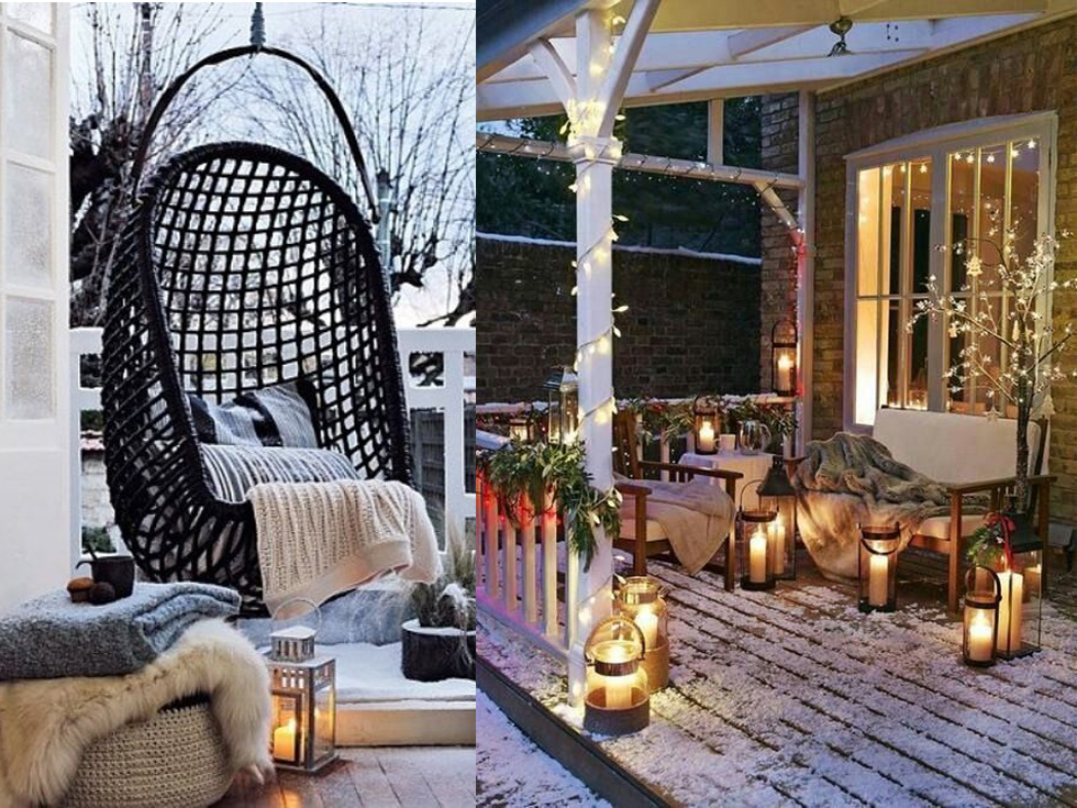 Ideas para vestir tu terraza de invierno y disfrutarla for Decoracion de la pared para el exterior