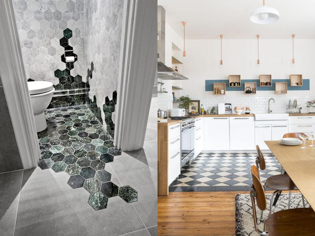 Distintos tipos de suelos para distintas o la misma estancia de tu hogar