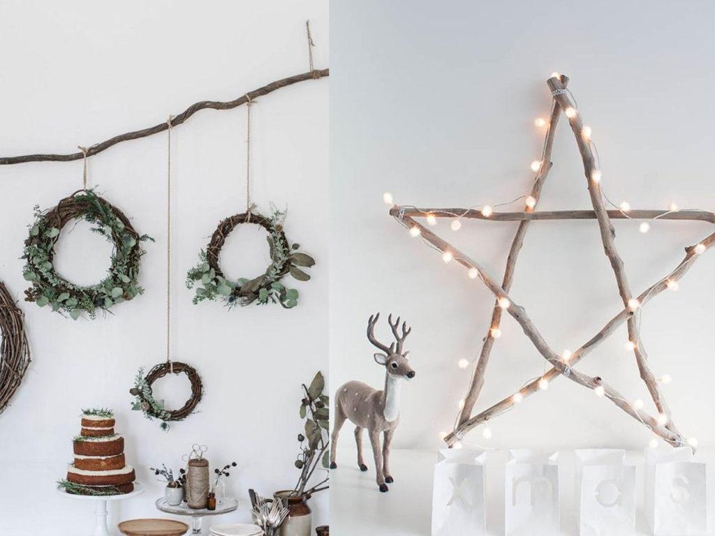 ideas sencilllas para la decoración para navidad 2017-2018