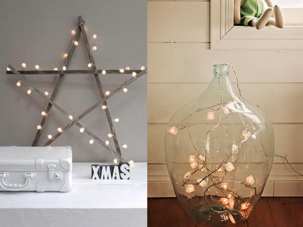 luces bonitas en decoración para navidad 2017-2018