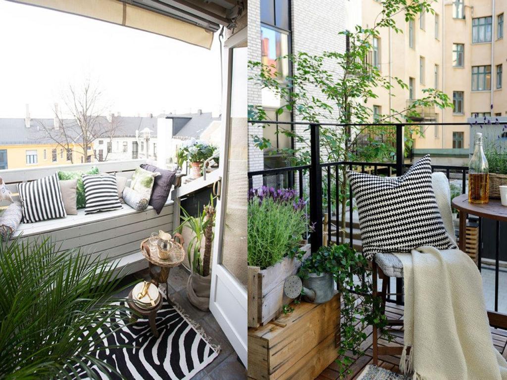 Disfrutar del recogimiento en un balcón o terraza de invierno