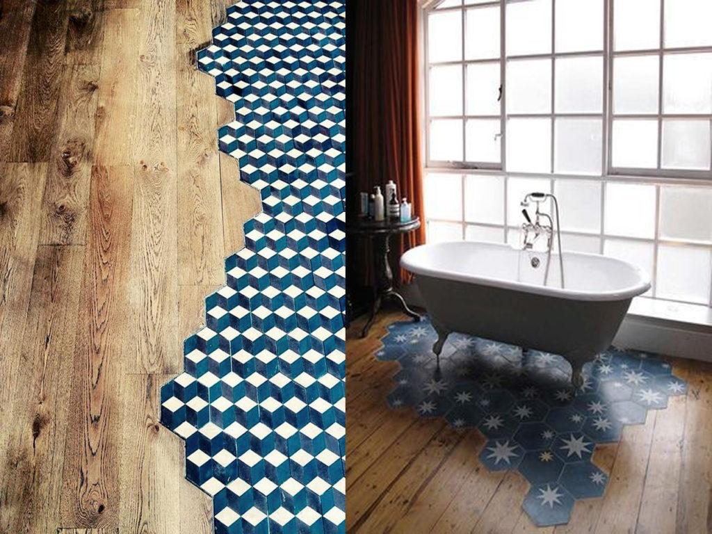 Mezcla de texturas diseños, y colores para tu suelo