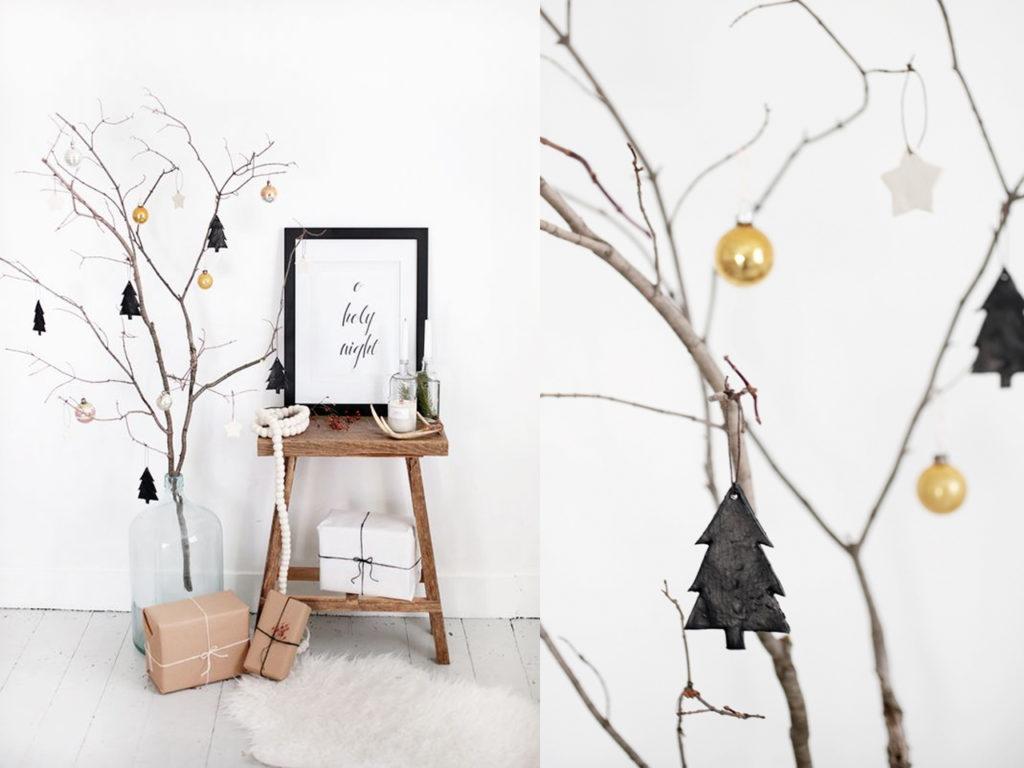 árbol minimalista para la decoración para navidad 2017-2018