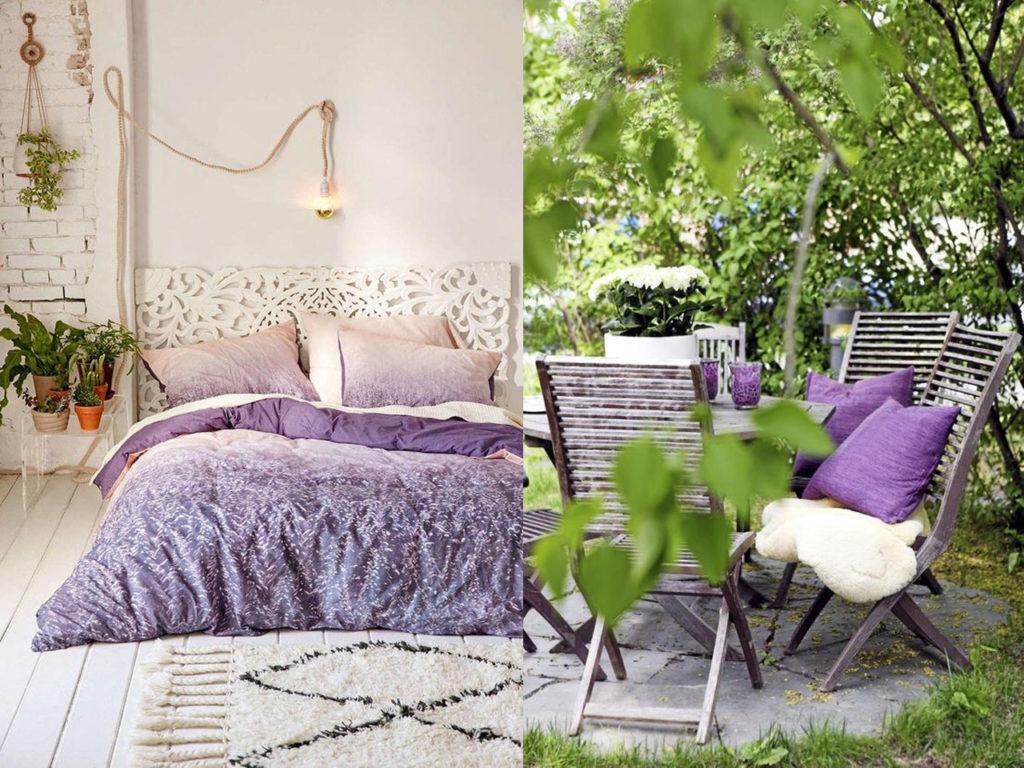 Ultravioleta el color del año 2018 en la decoración