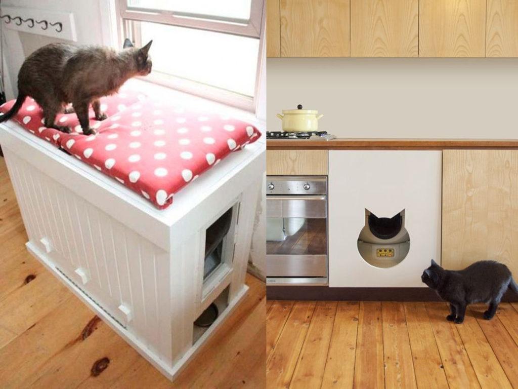 huecos para los gatos