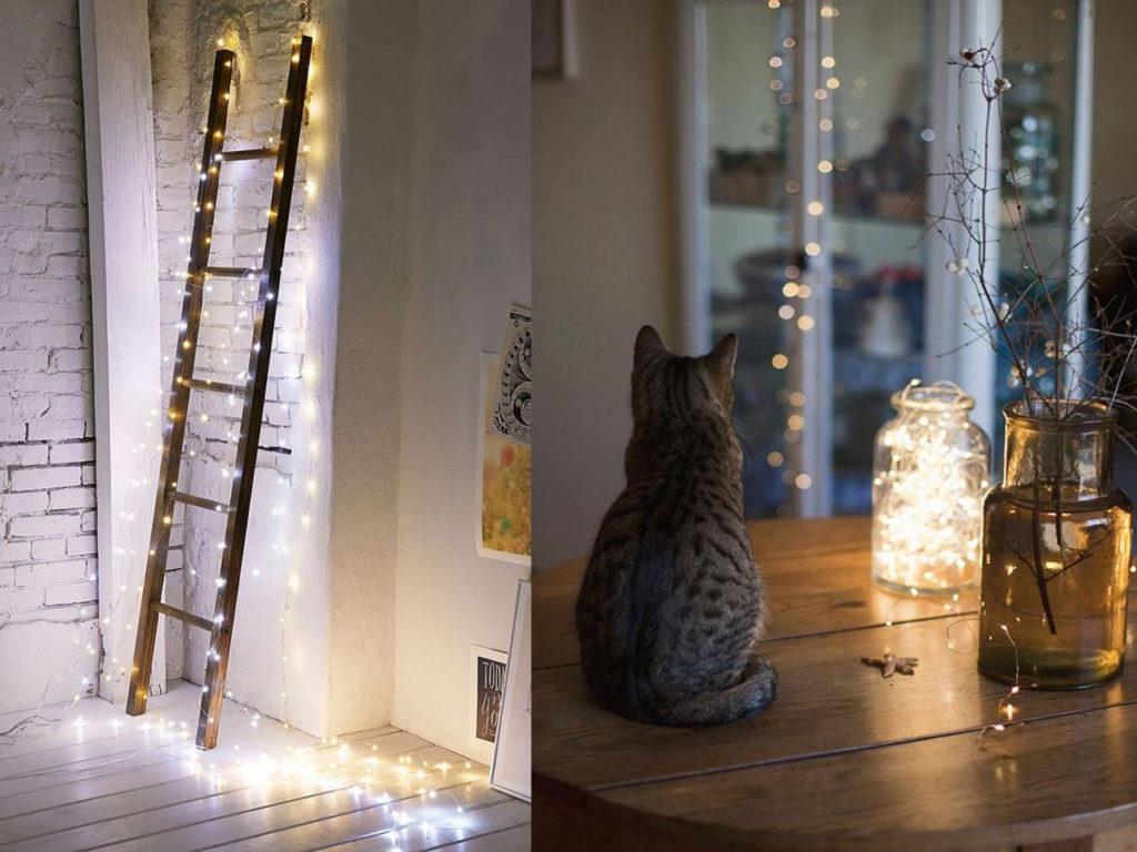 seguir usando las luces de navidad