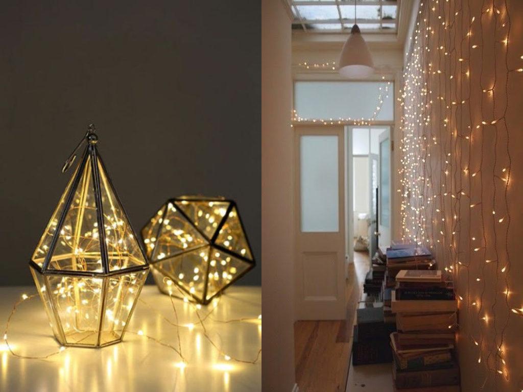 luces de navidad en la decoración de tu casa