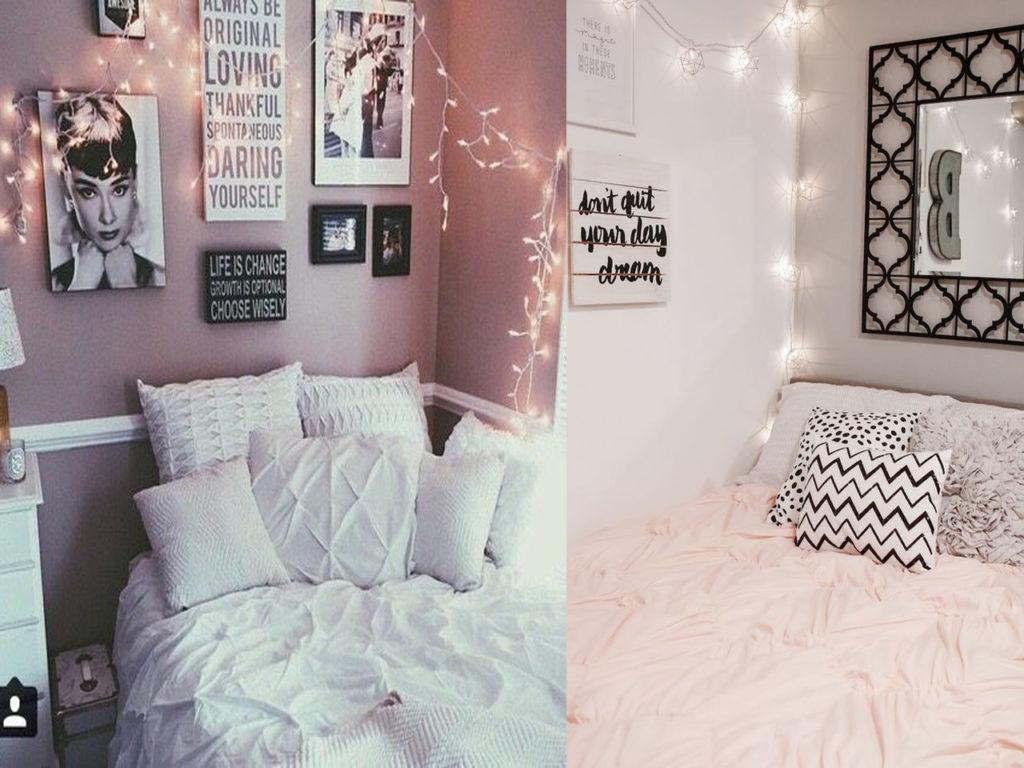 luces de navidad en el dormitorio