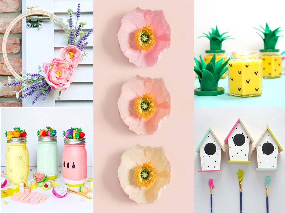 10 ideas diy para decorar de primavera tu hogar for Decoracion del hogar en primavera