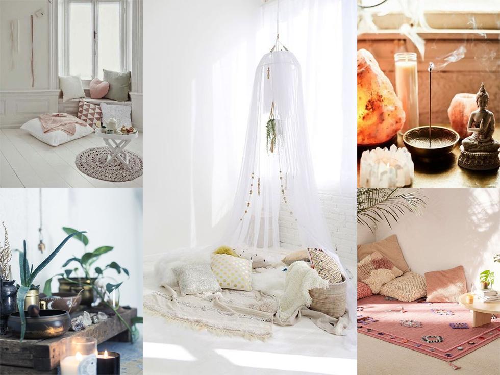 Espacios de meditación en casa